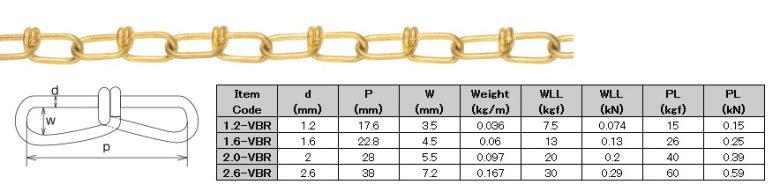 Brass Victor Chain