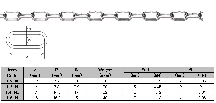 Stainless Steel Link Chain Non-welding
