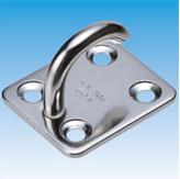 Hook Pad Eye Rectangle Plate