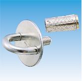 Pad Eye Round Plate w/Stud & Zinc Anchor Plug