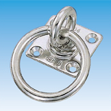 Rectangle Swivel Eye Plate w/Ring
