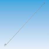 5mm Super Long S Hook w/Safety Latch & PVC Tip